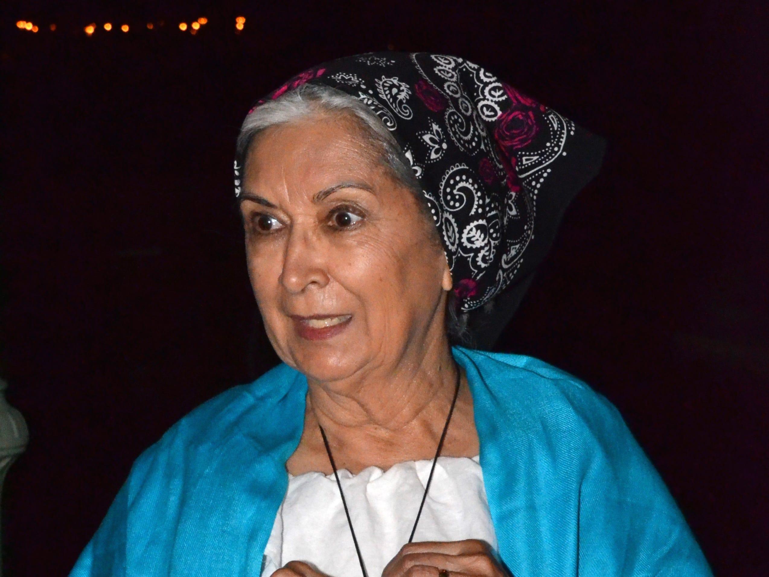 Re-enactor Angie Morgan portrays Luisa Robledo, daughter of Pedro Robledo.