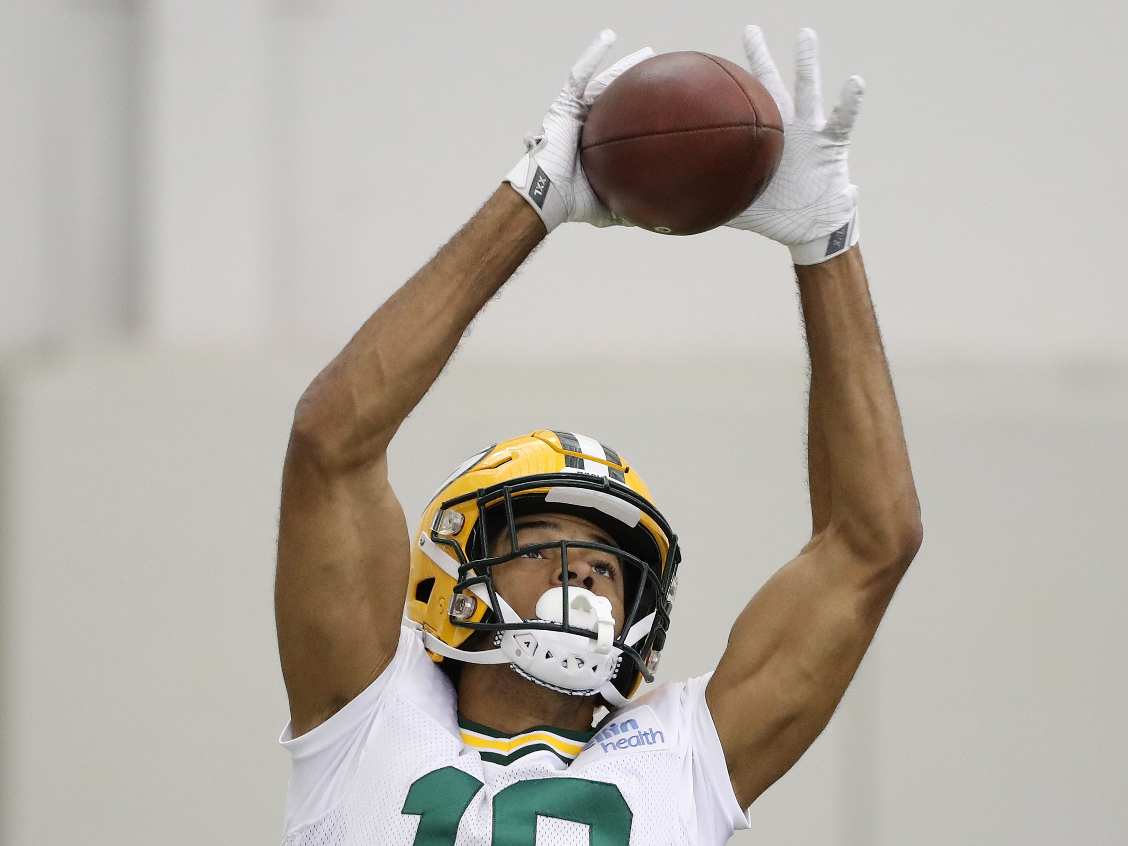 Green Bay Packers wide receiver Equanimeous St. Brown (19) during practice inside the Hutson Center Thursday, October 11, 2018 in Ashwaubenon, Wis.