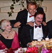 Gloria Greer, Marc Byrd, and Al Jones at Marc's 60th birthday party at Le Vallauris, May 2014
