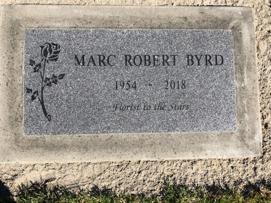 Marc Robert Byrd's tombstone