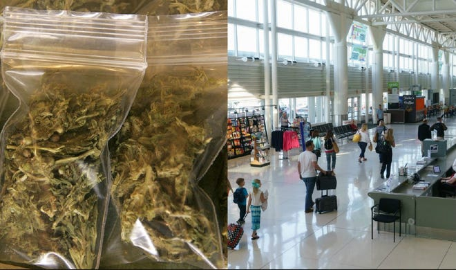 Palm Springs International Airport is thinking about allowing cannabis on its grounds.