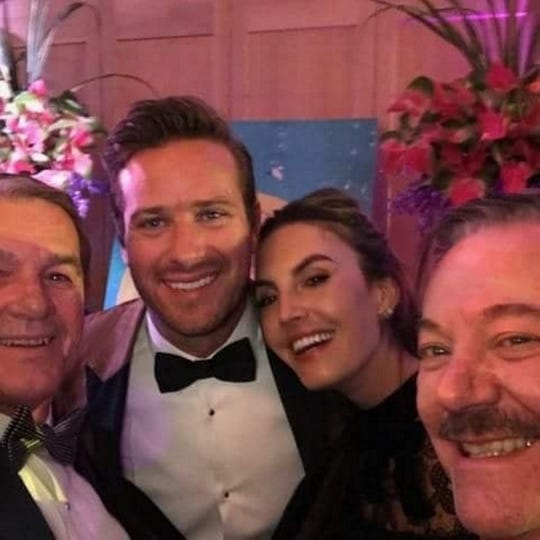 Al Jones, Armie Hammer (Actor), Elizabeth Hammer, Marc Byrd at the 2018 International Film Festival Opening Gala. Armie and Elizabeth are close friends of Marc's and Al's.