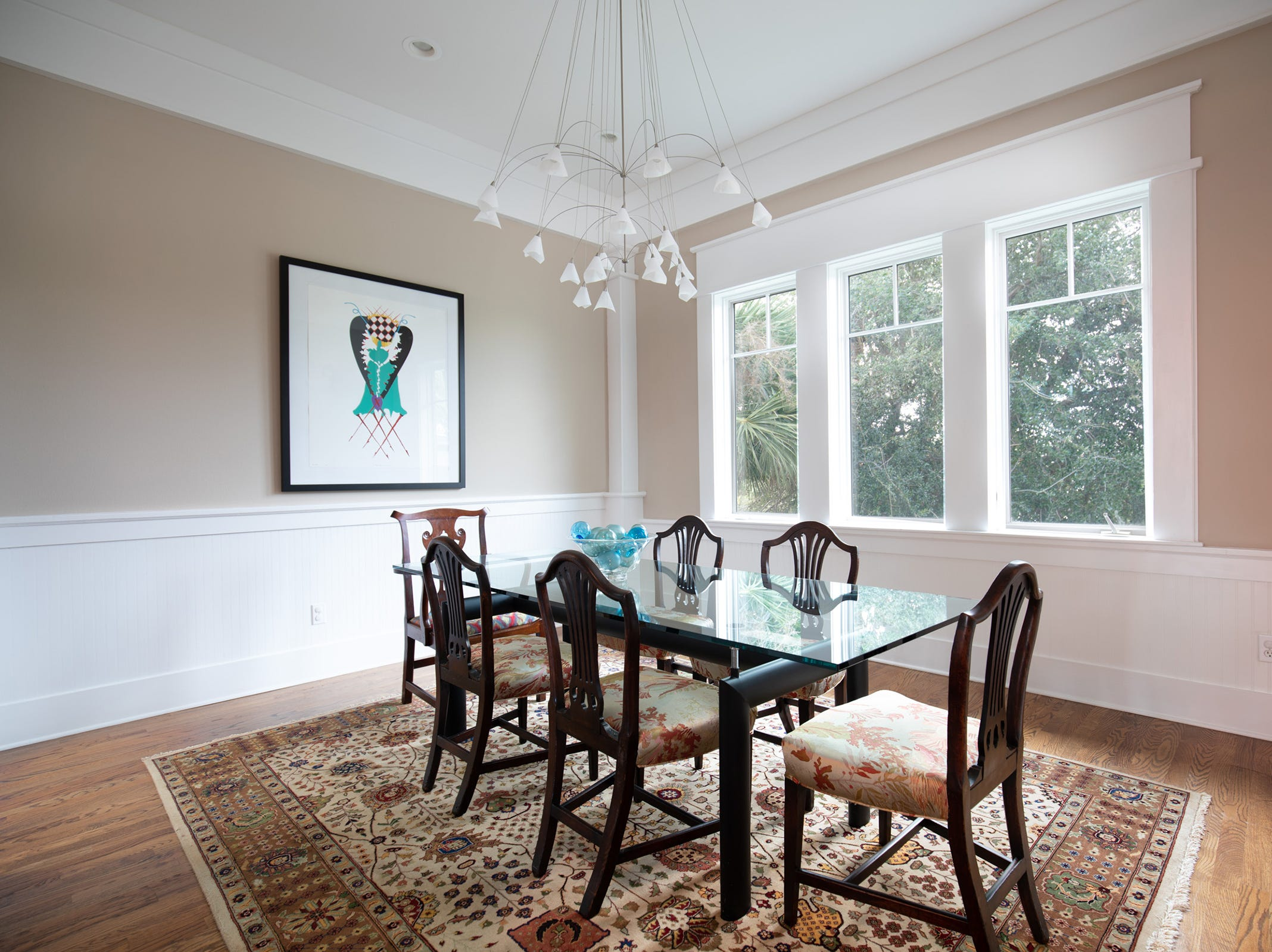 200 Sabine Drive, the formal dining room.