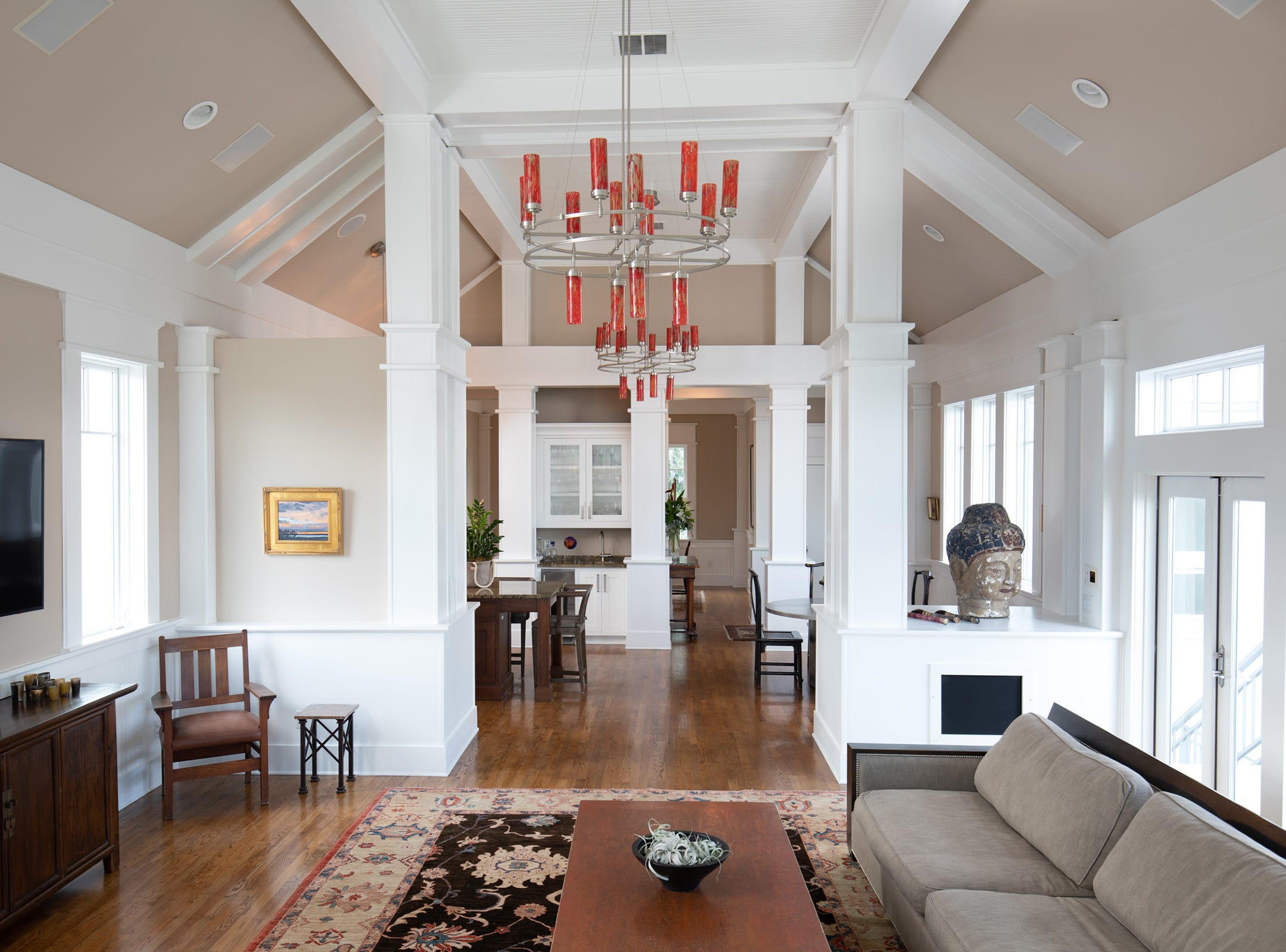200 Sabine Drive, the light add bright living area.