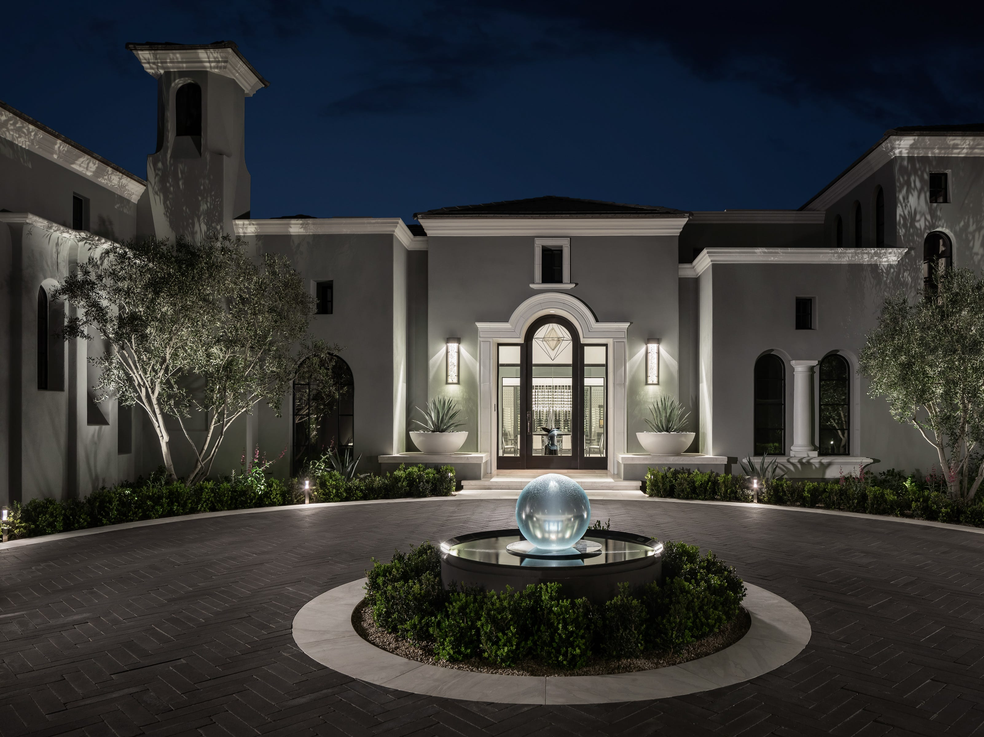 The 14,350-square-foot house is on four acres in north Scottsdale.