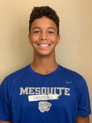 Gilbert Mesquite quarterback Ty Thompson is this week's Boys Athlete of the Week.