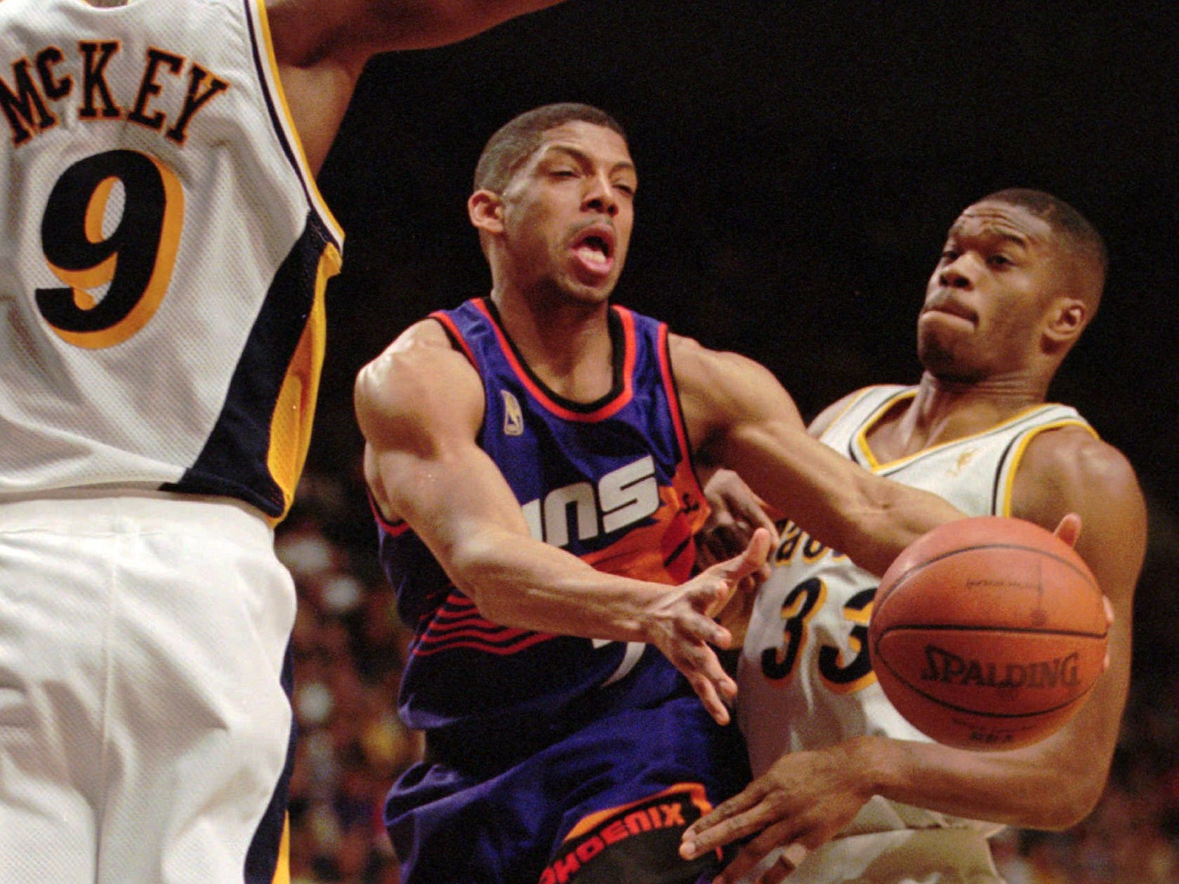 1996-97 | Suns MVP: Kevin Johnson. KJ was nearing the end of a stretch that would see him at the top of several Suns career offensive categories. It's too bad he'll be remembered as much for accusations of sexual misconduct, which he has denied.