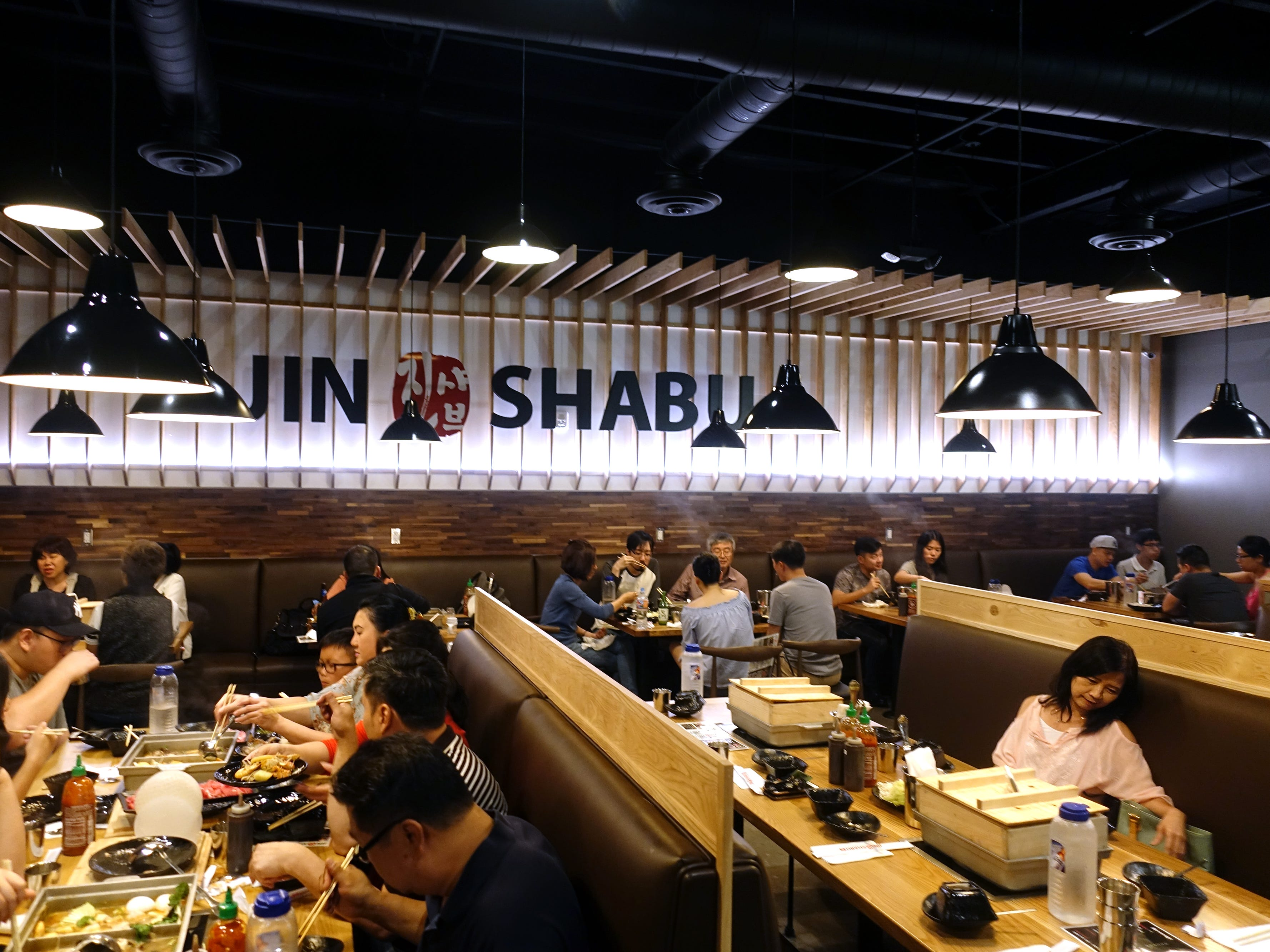 The interior of Jin Shabu in Chandler.