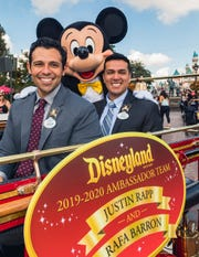 In a tradition dating back to 1965, Disneyland Resort President Josh D'Amaro announced that cast members Justin Rapp and Rafa Barron will represent the Disneyland Resort and its 30,000 cast members as the 2019-2020 Disney Ambassadors. Justin and Rafa celebrated in a cavalcade down Main Street, U.S.A., on October 4, 2018.