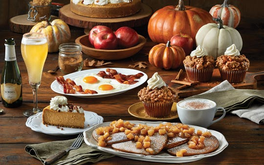 A variety of pumpkin dishes at Mimi's Café.