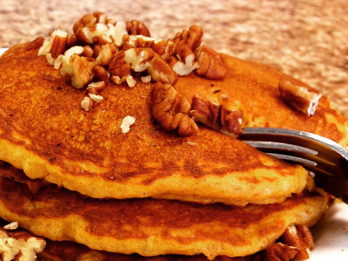 Char Kitchen+Bar | The pumpkin pecan pancakes ($14) exude fall scents of cinnamon and nutmeg while bits of pecans bring crunchy texture amidst the fluffiness.  Address: 480-664-9238, charkitchen.com.