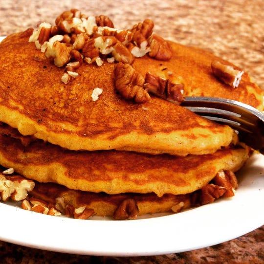 Pumpkin pecan pancakes at Char Kitchen+Bar.