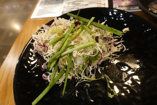 Salad at Jin Shabu in Chandler.
