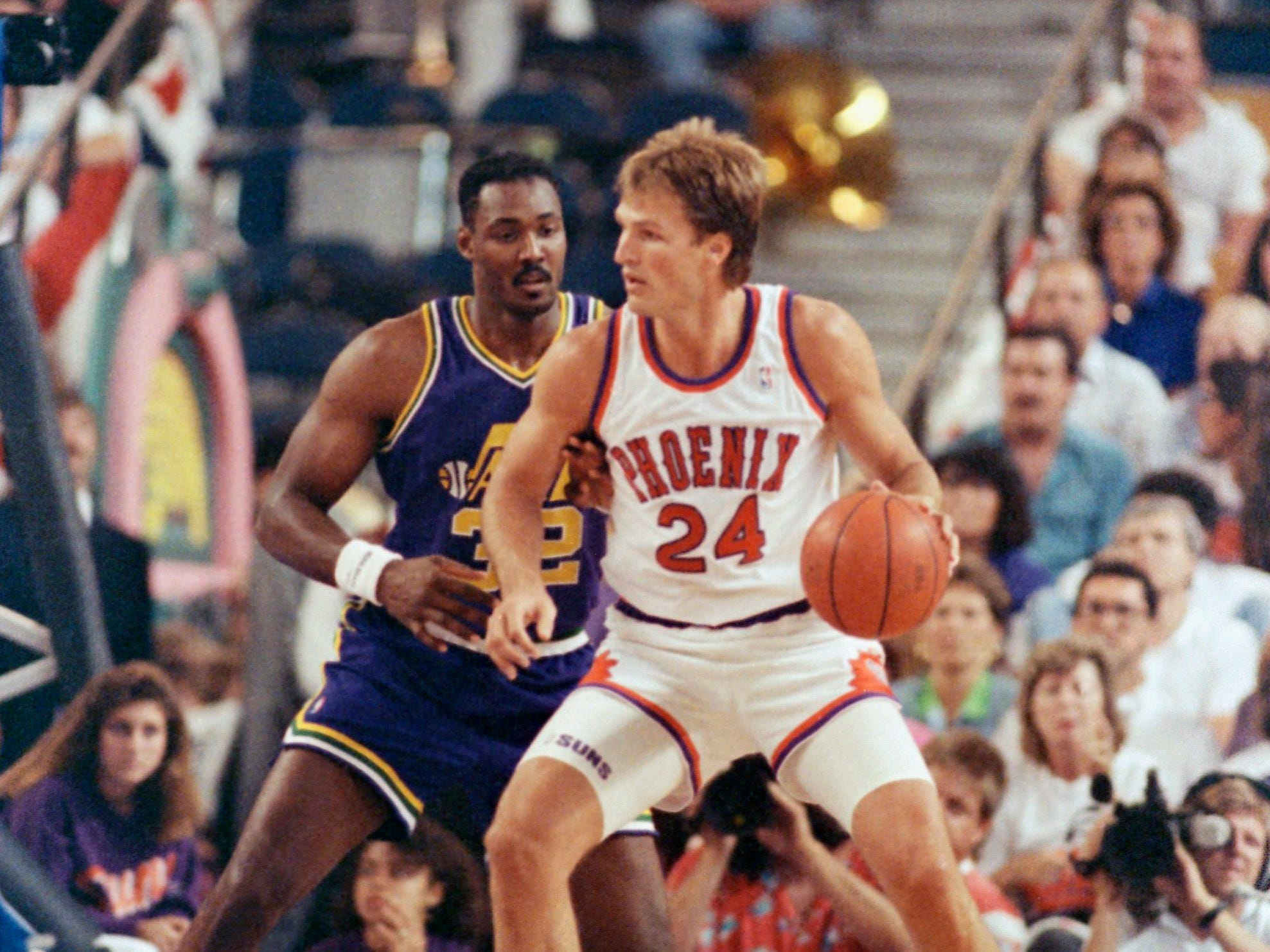 1989-90 | Suns MVP: Tom Chambers. Chambers averaged 27 a night on 50 percent shooting and was selected to his second of three consecutive All Star games. He was also an All NBA second teamer.