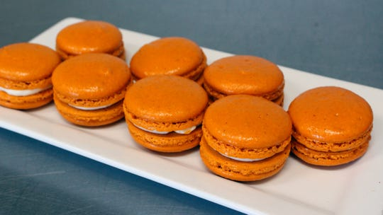 Pumpkin pie french macarons at La Grande Orange Grocery & Pizzeria.