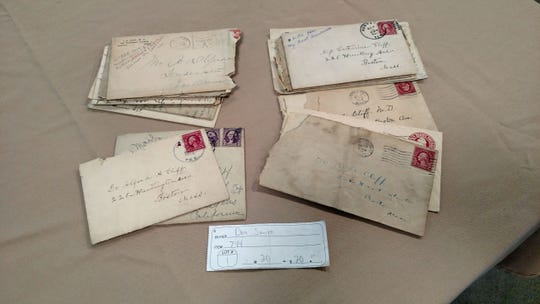 Don Smith's $20 winning auction ticket for a storage unit that contained historical documents, Civil War currency, and family letters believed to have belonged to California Congressman Henry Ellsworth Barbour.