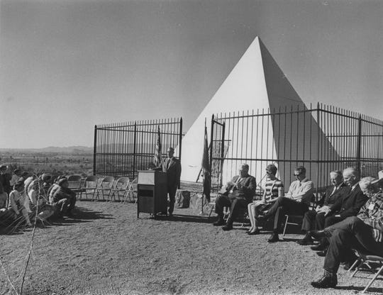 Arizona Governor George W.P. Hunt's Tomb as seen in 1969.