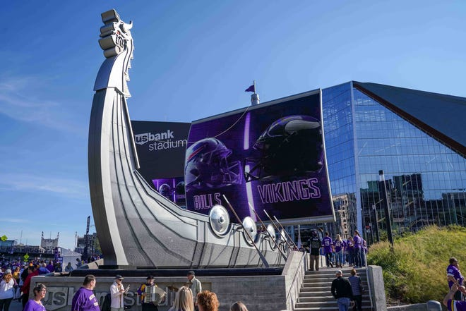 A view of U.S. Bank Stadium, home of the Minnesota Vikings.
