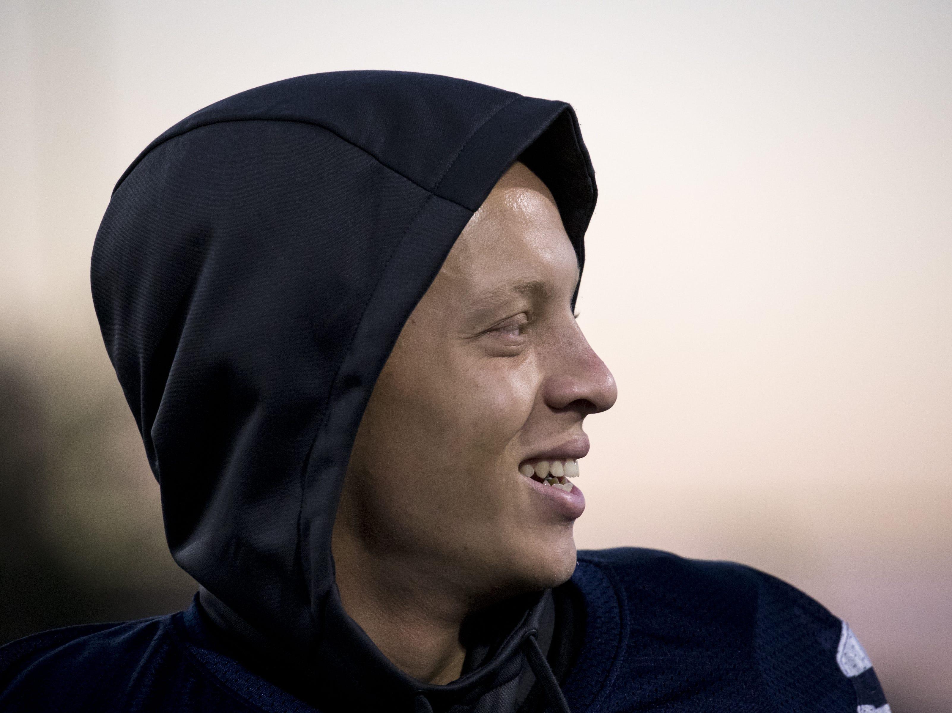 Spencer Rattler (QB) during football practice, October 9, 2018, at Pinnacle High School, Phoenix.