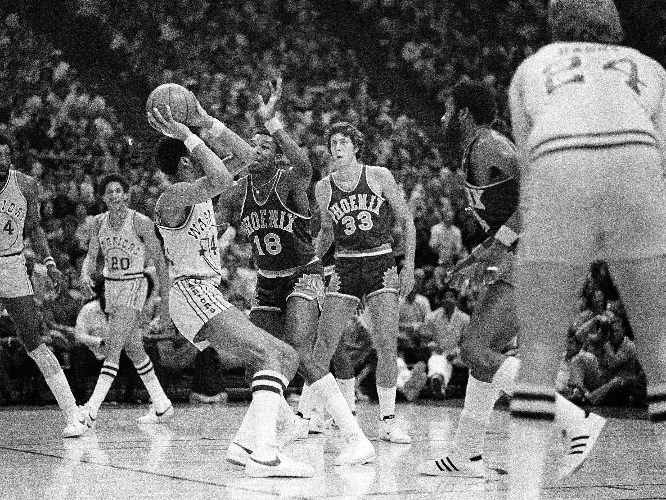 1974-75 | Suns MVP: Curtis Perry (18, seen in 1976). Perry came over from Milwaukee and averaged a career high in rebounds.