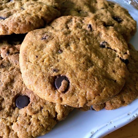 Pumpkin chocolate chip cookies at 24 Carrots Natural Café and Juice Bar.