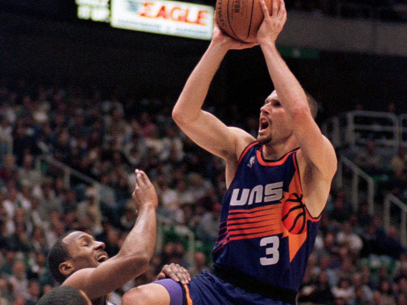 "1997-98 | Suns MVP: Rex Chapman. The Suns had a backlog at point guard with Kevin Johnson, Kidd and a young Steve Nash on the roster. Chapman provided steadiness and scoring on the wing in the season after he hit ""The Shot"" against the Sonics in the playoffs."