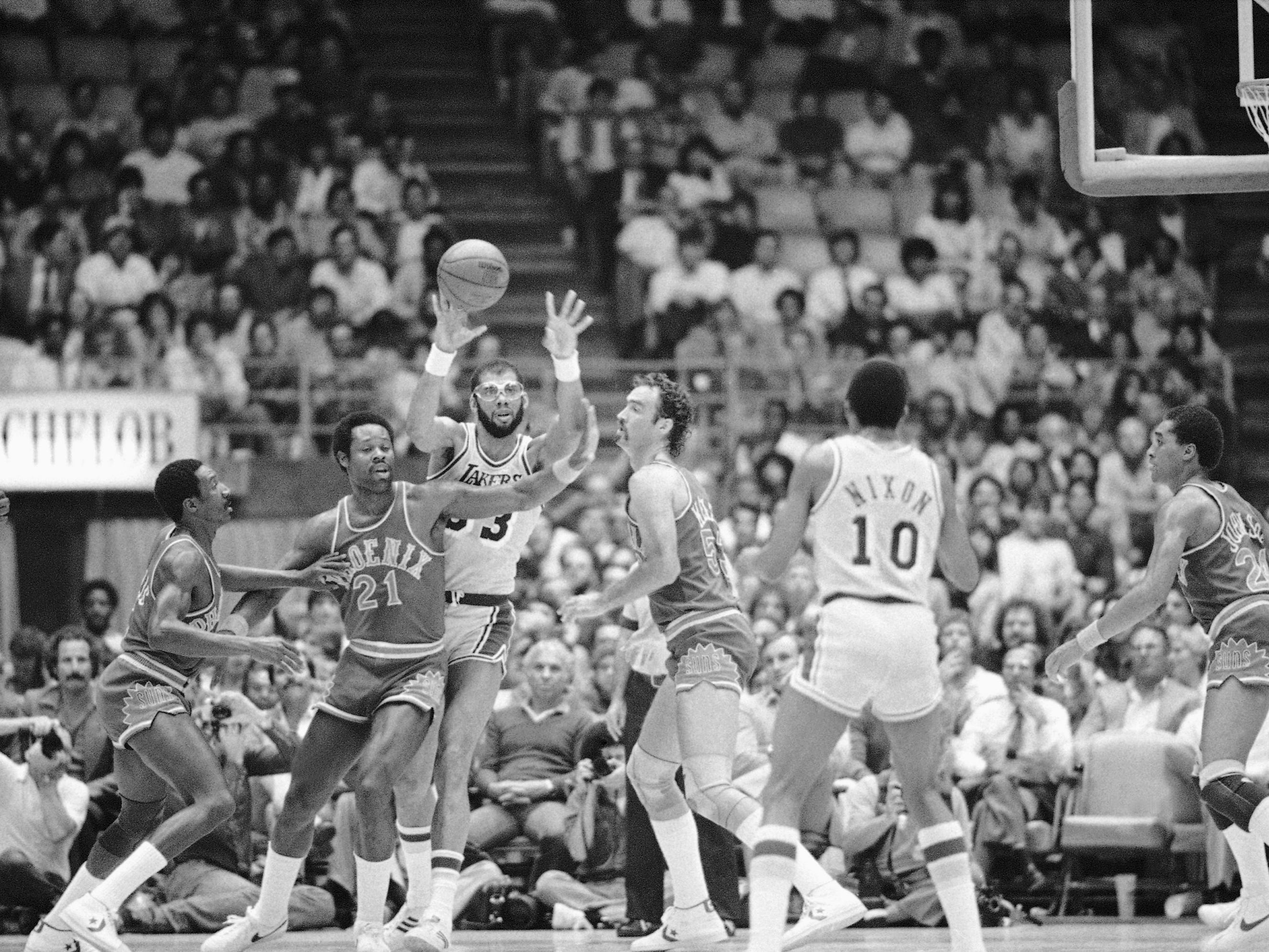 1980-81 | Suns MVP: Truck Robinson (21, seen in 1982). Robinson was at his best, mixing a midrange jumper with drives to the paint. He was an All Star, leading one of the league's best offenses.