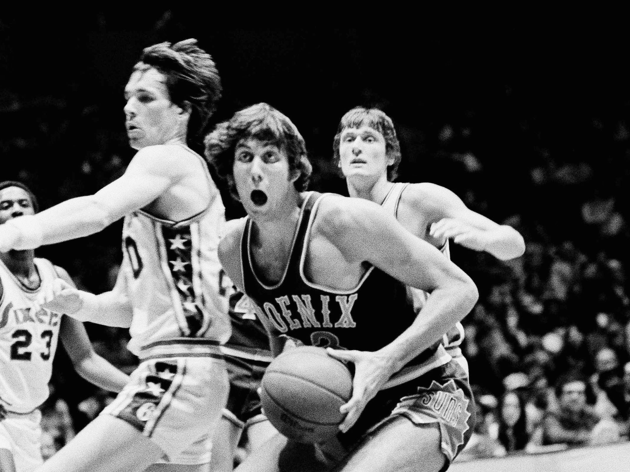 1975-76 | Suns MVP: Alvan Adams. Adams, the NBA's Rookie of the Year, did it all for a team that made a run to the NBA Finals, where they gave the Celtics all they could handle.
