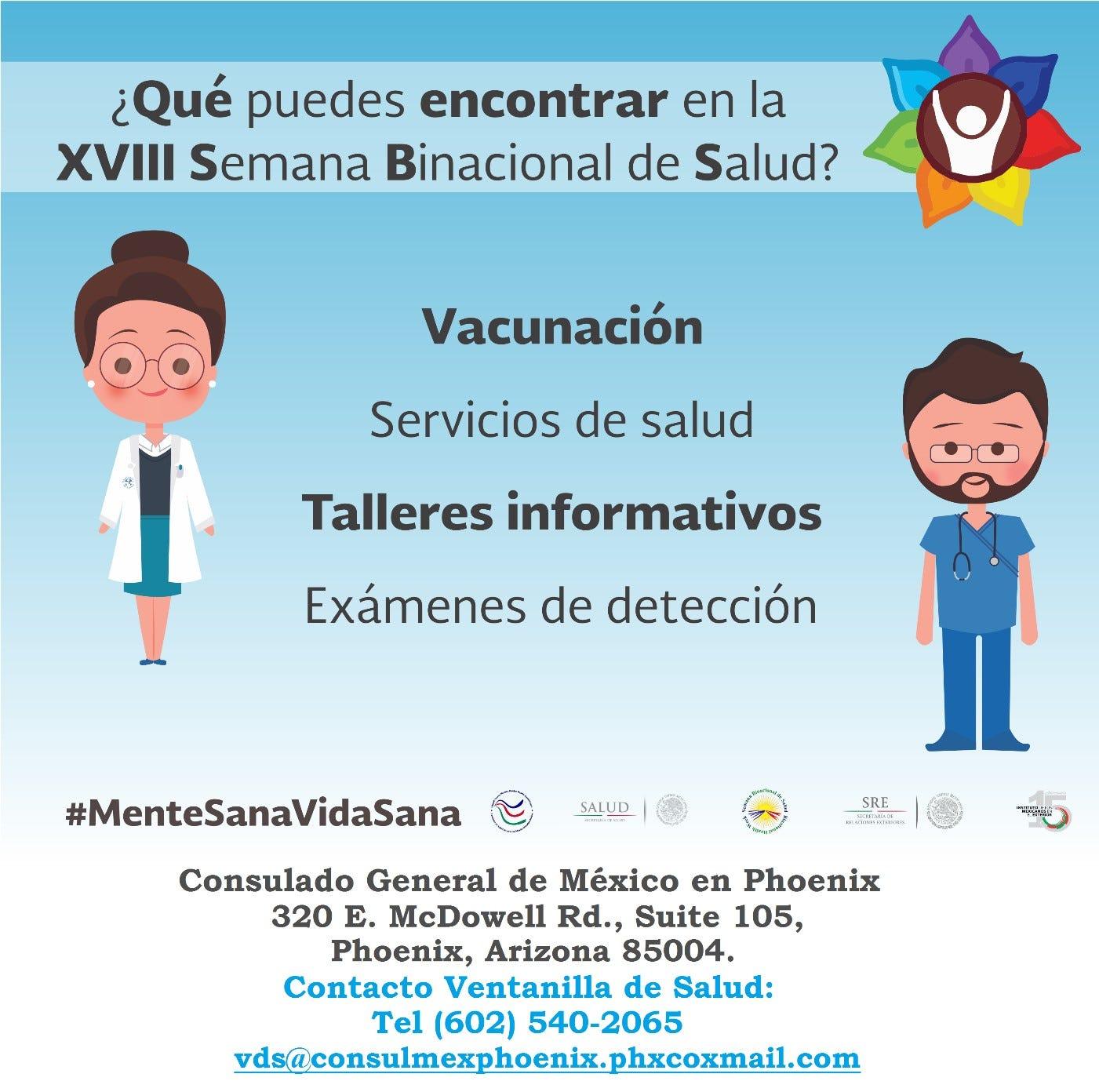 Invitan a la XVIII Semana Binacional de Salud 'Mente sana, vida sana'