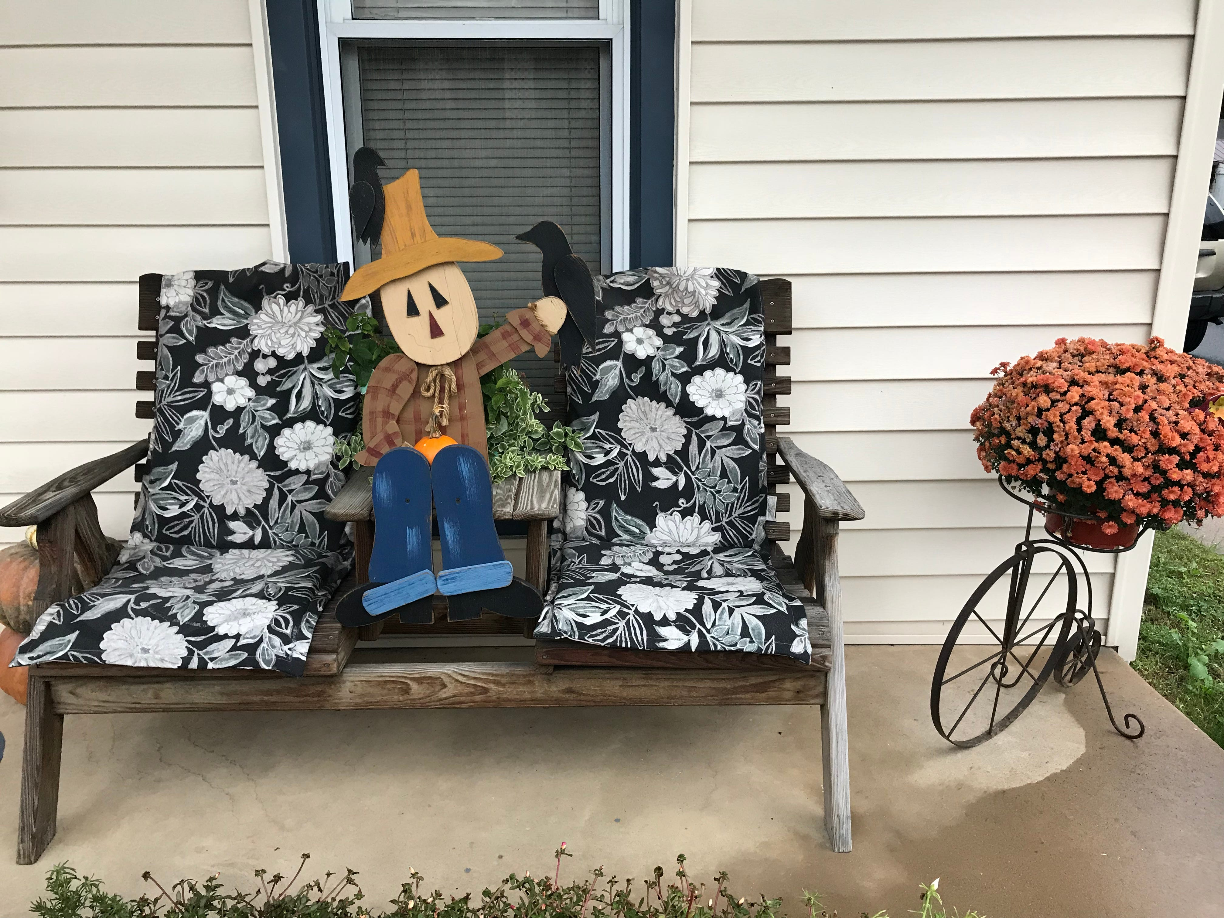 A scarecrow decoration for the fall season at a residence on Fulton Street, Ephrata Borough, Lancaster County.