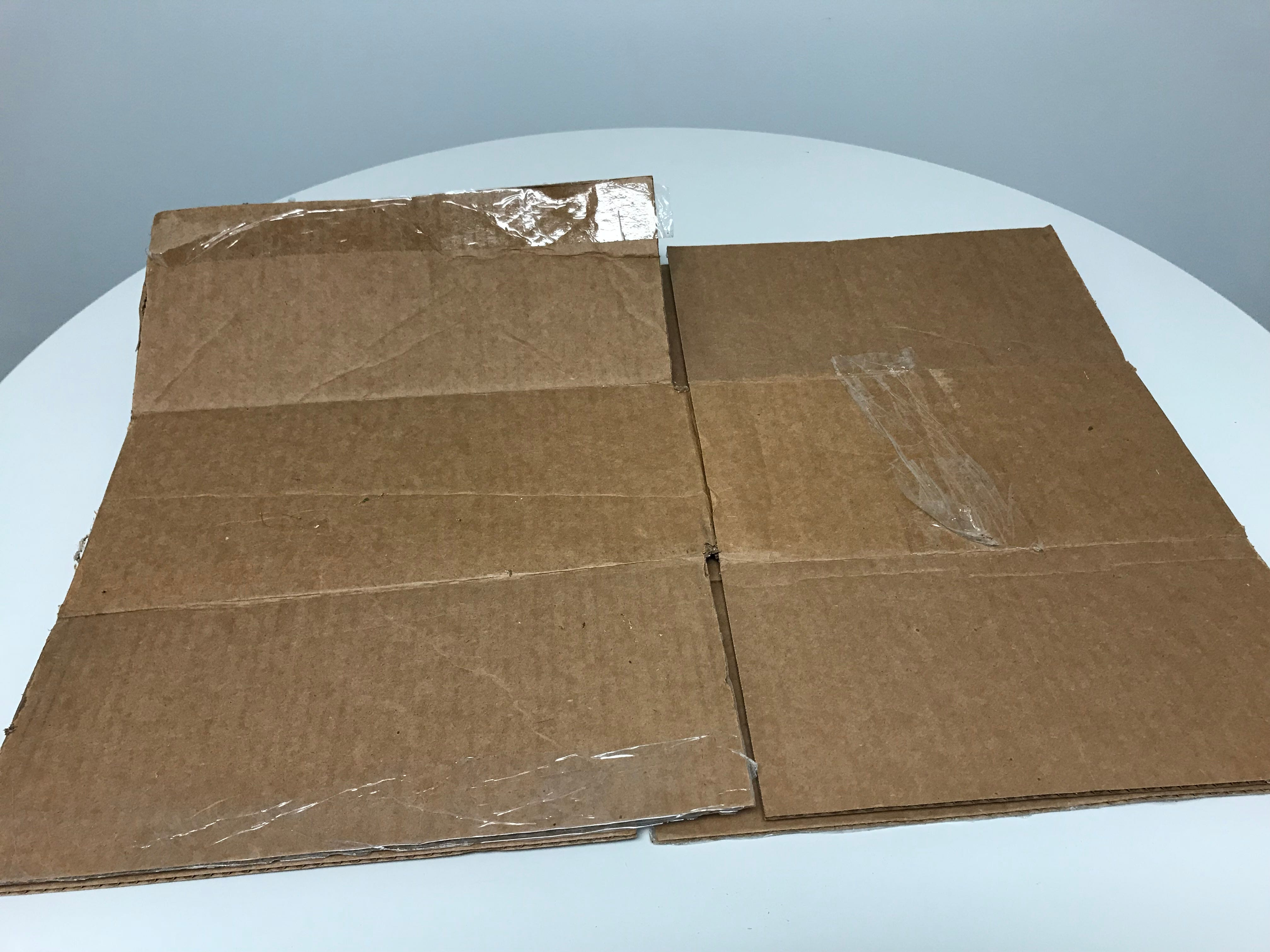 An example of the proper way for cardboard boxes to be prepared for curbside recycling bins.
