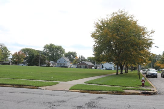The proposed property swap of the Port Clinton City School District's lot on Fourth Street, pictured here, and a developer's lot on the south end of Jefferson Street has been tabled.