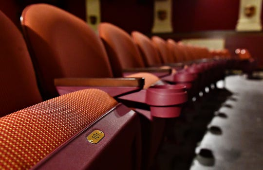 Four hundred fifty new seats, featuring cupholders and numbered, fill the Capitol Theatre in York City, Thursday, Oct. 11, 2018. The venue, which is part of the Appell Center for the Performing Arts, began the $2 million interior renovations in April. Dawn J. Sagert photo