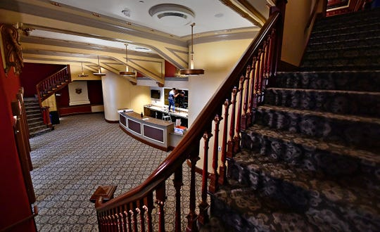 The new concession counter is shown from stairs leading to the balcony at the Capitol Theatre in York City, Thursday, Oct. 11, 2018. The venue, which is part of the Appell Center for the Performing Arts, began the $2 million interior renovations in April. Dawn J. Sagert photo