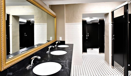 Newly renovated restrooms are shown at the Capitol Theatre in York City, Thursday, Oct. 11, 2018. The venue, which is part of the Appell Center for the Performing Arts, began the $2 million interior renovations in April. Dawn J. Sagert photo