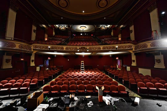 The Capitol Theatre now boasts 450 new seats, featuring cupholders, in York City, Thursday, Oct. 11, 2018. The venue, which is part of the Appell Center for the Performing Arts, began the $2 million interior renovations in April. Dawn J. Sagert photo