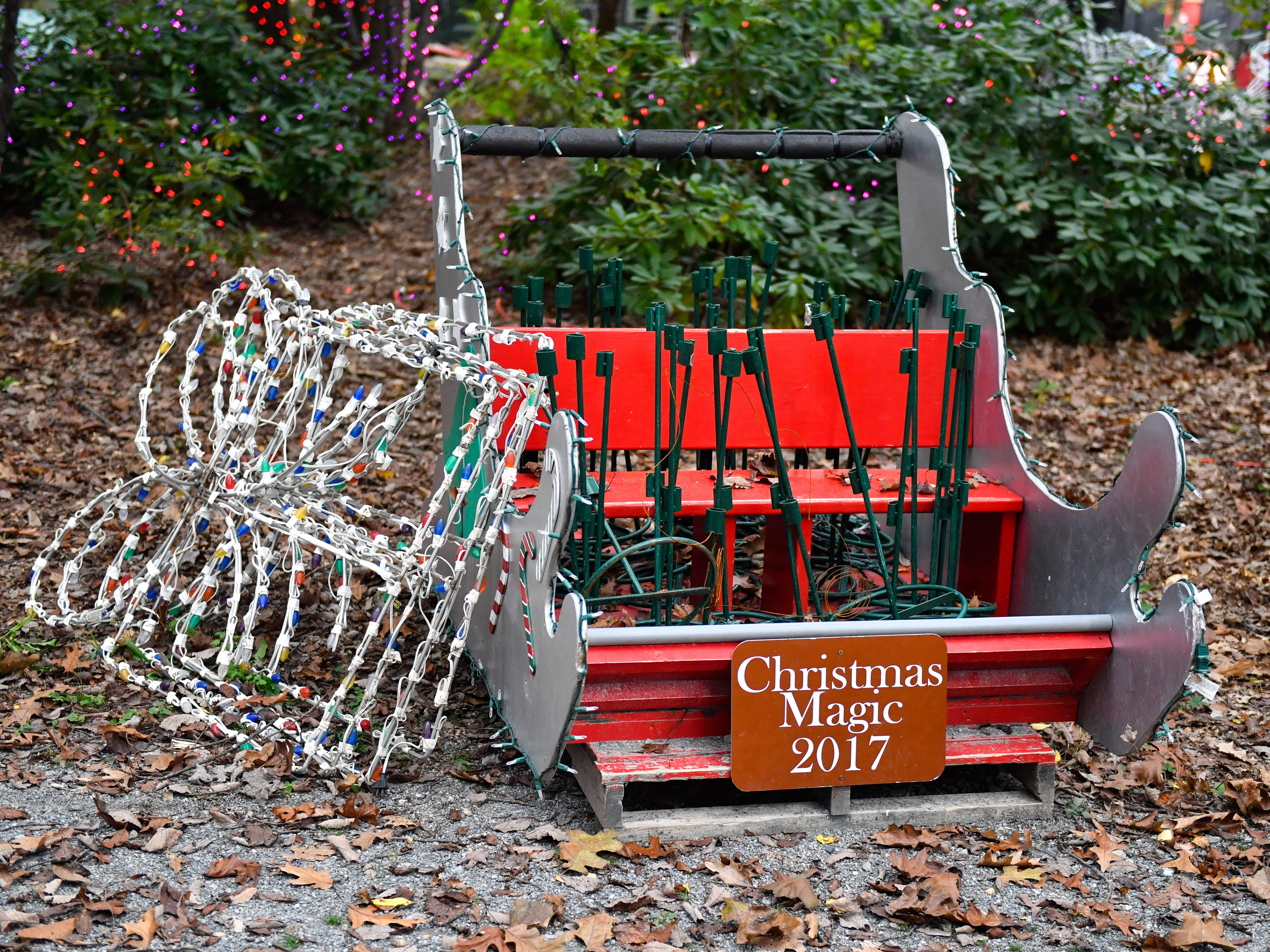 Decorations from previous years will be used at Christmas Magic in Rocky Ridge County Park for 2018.