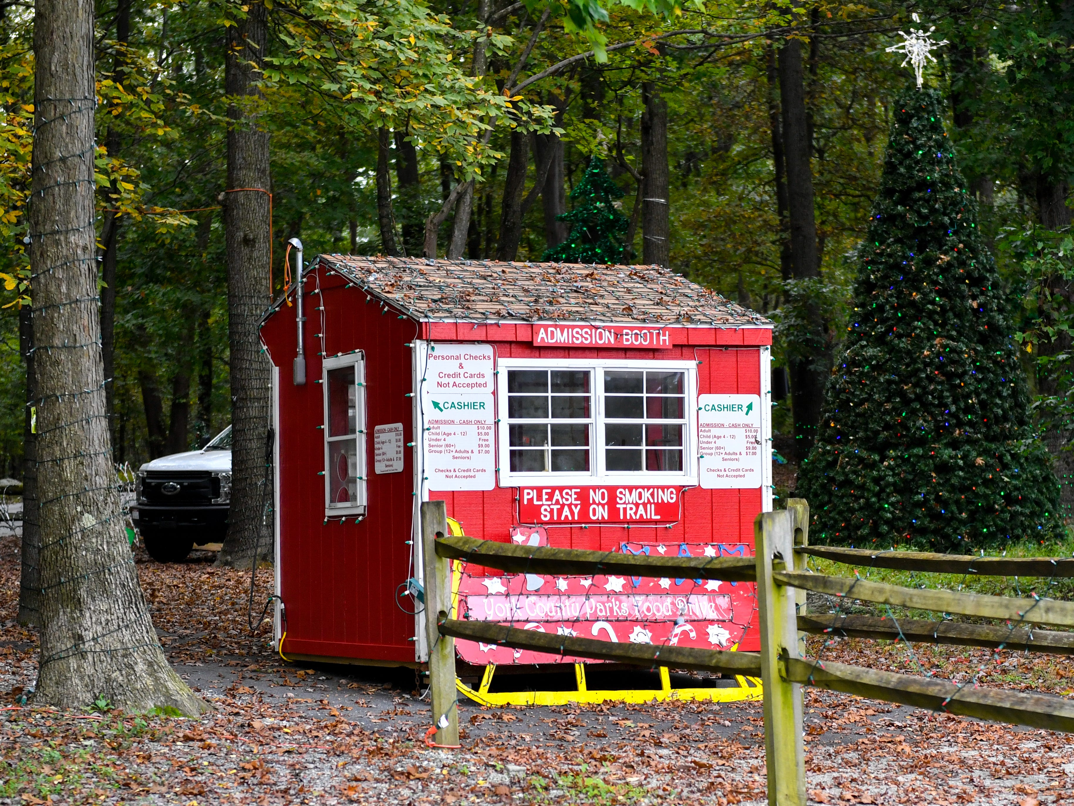 The ticketing booth will be the first stop for visitors at Christmas Magic in Rocky Ridge County Park, October 10, 2018.