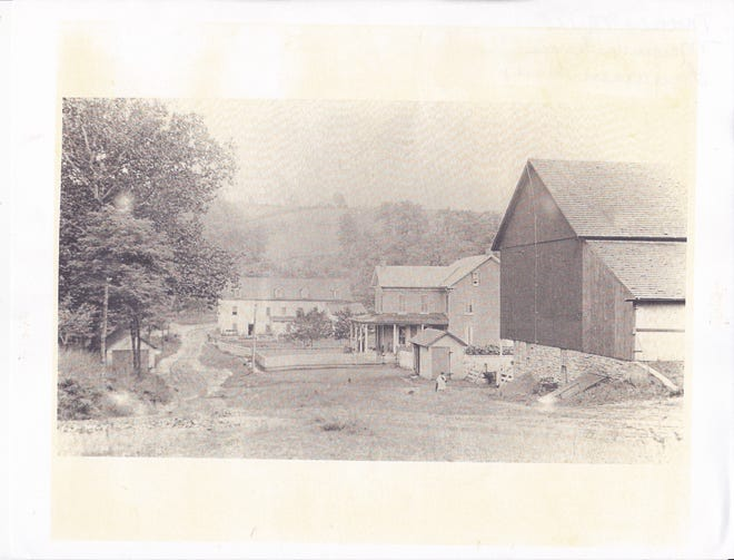 The Margaretta Mill in the mid 1900s.  From the Elizabeth Senft collection.