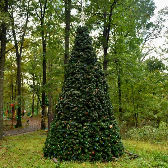 A large Christmas tree near the ticketing booth is one of the first things visitors will see when entering Christmas Magic at Rocky Ridge County Park. This year's event opens on Black Friday.