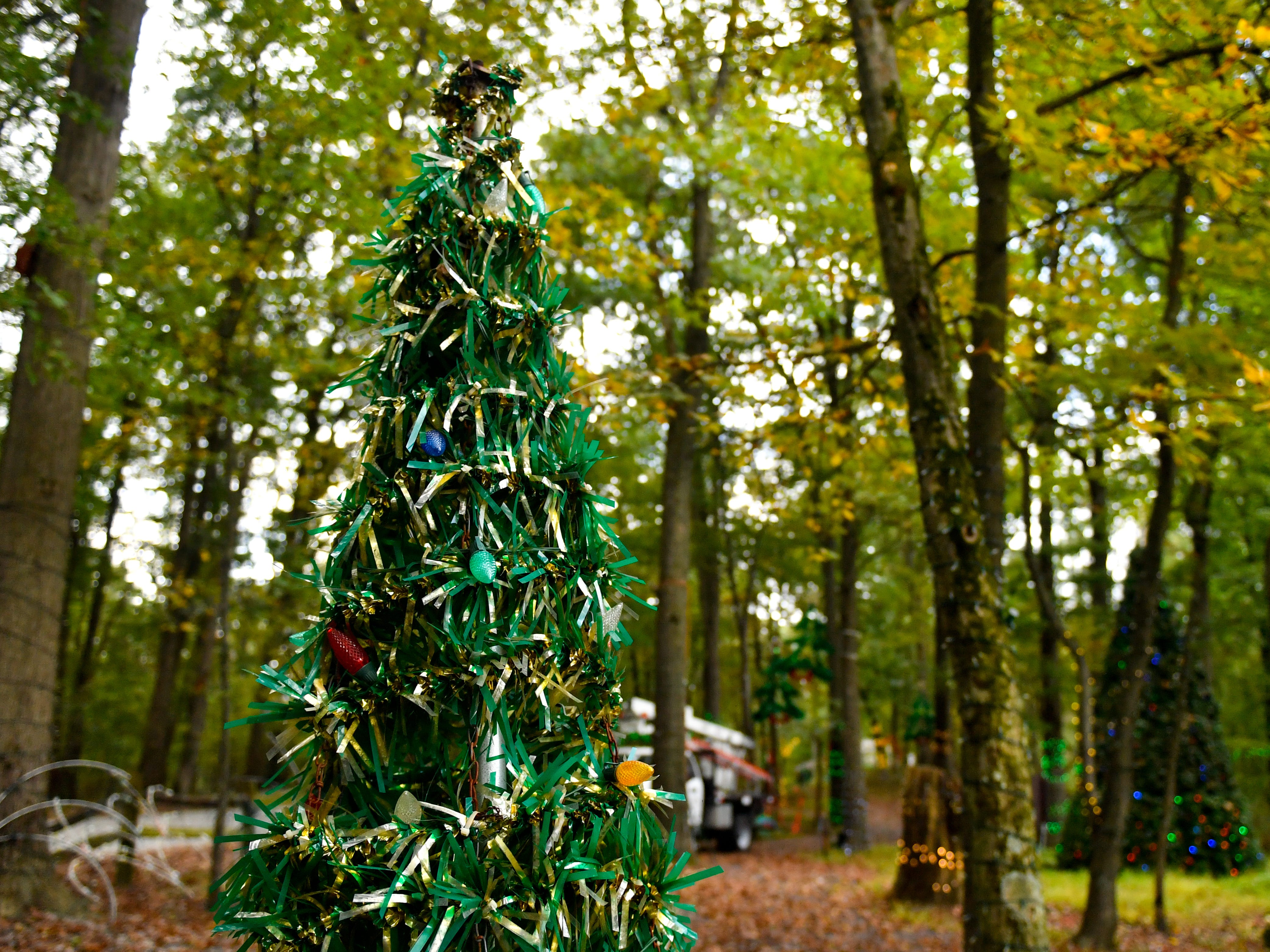 Smaller Christmas trees are spread throughout Christmas Magic in Rocky Ridge County Park, October 10, 2018.