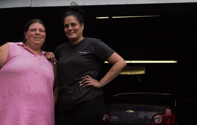 (left) Shannon Conaway-Garcia, 38, and Jasmine Rivera, 41, of Vellon's Garage. The pair helped create Ratchet Fest, which will take place Saturday, October 13.