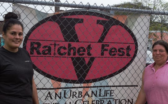 (Left to right) Jasmine Rivera 41 And Shannon Conaway Garcia 38 Of Vellons Garage And Co Founders Of Ratchet Fest