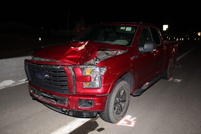 A Carson City man was killed after he stepped in front of a pickup on Highway 50 in Mound House.