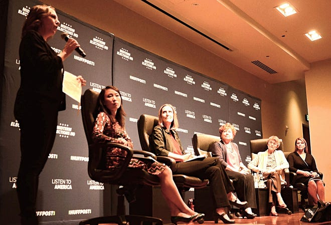A group of panelists talk about women in politics in Nevada at an event on Oct. 10, 2018 at the University of Nevada, Reno. The event was part of HuffPost's 'Listen to America' RV tour. The event was co-hosted by the Reno Gazette Journal and HuffPost.