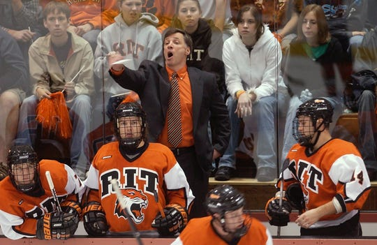 Wayne Wilson starts his 20th season behind the bench for RIT men's hockey. He's the Tigers' career record leader at 349-237-63, including 181-111-40 in Division I conference play for Atlantic Hockey.