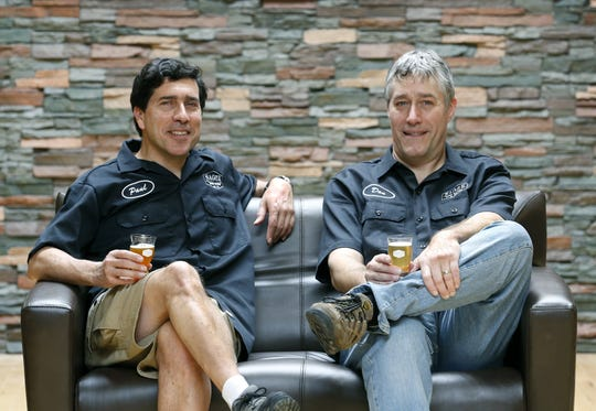 Paul Guarracini and Don Tumminelli at Sager Beer Works.