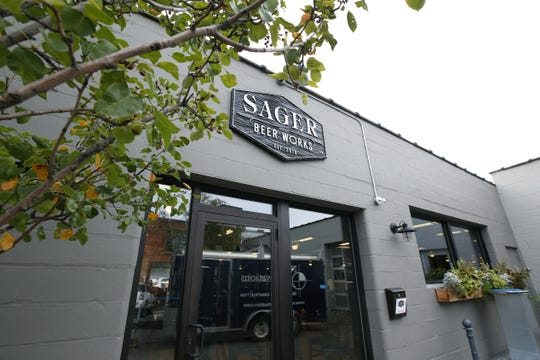 Main entrance at Sager Beer Works.