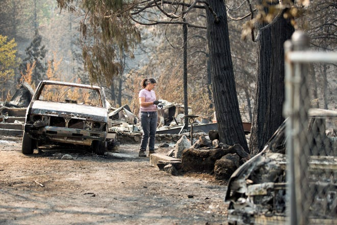 Back in August, Marci Fernandes, 62 searched the ashes of her home on Rock Creek Road in Keswick. The Carr Fire destroyed it on July 26.