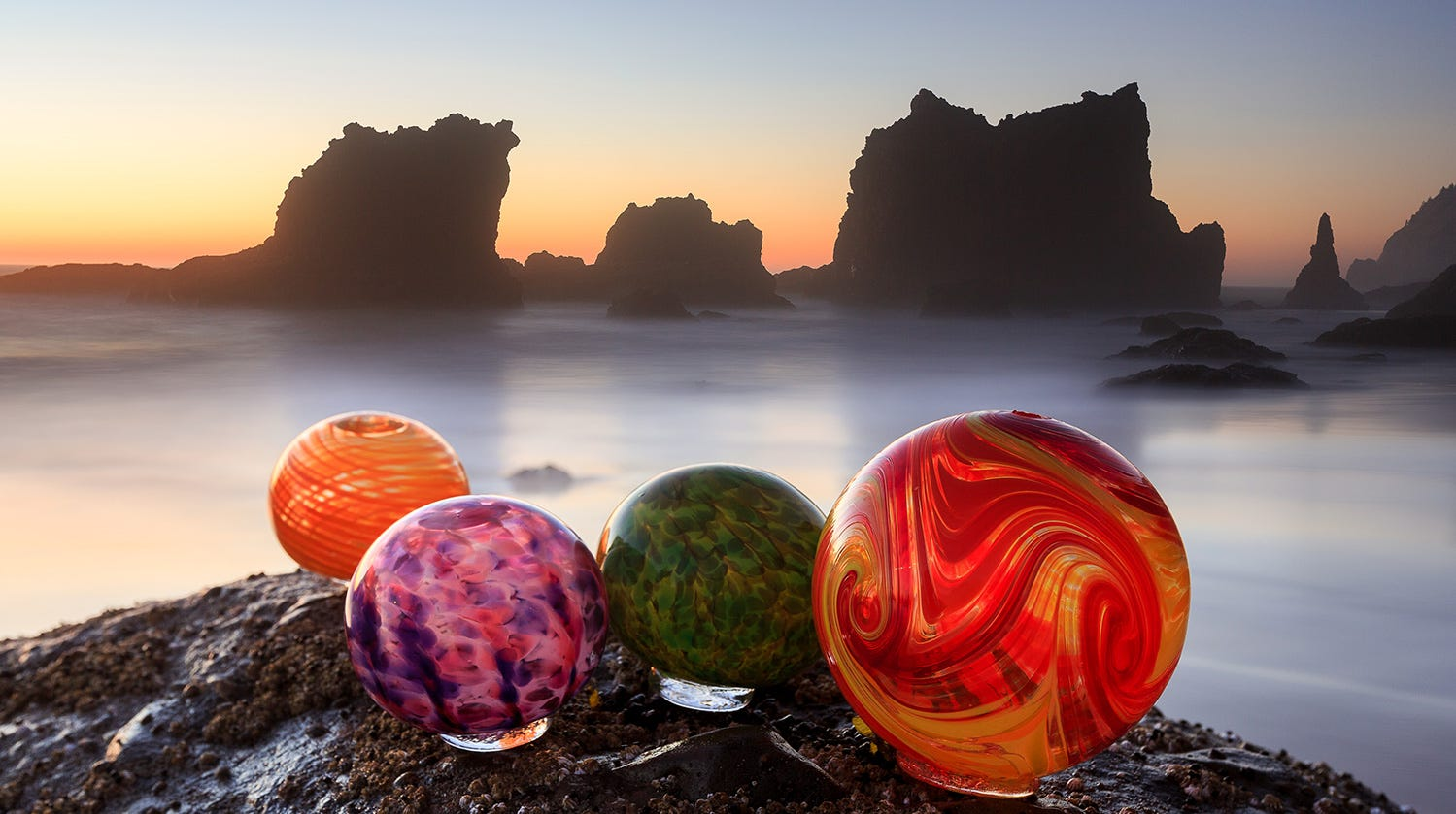 As of Saturday, Oct. 13, glass floats on the beach in Lincoln City will now be hidden by Finders Keepers year-round.